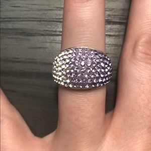 Purple Ombré Silver Ring